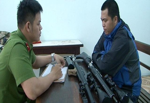 Đối tượng Lê Đức Quốc Bảo đã lắp ráp súng hơi bắn đạn chì rồi bán lại cho 3 đối tượng ở Huế