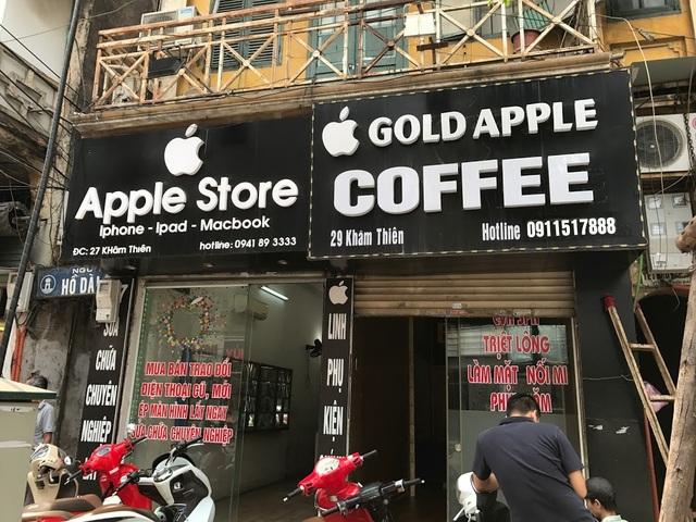 Biển hiệu Apple Store tại phố Khâm Thiên