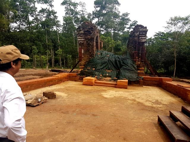 Khu tháp K đã được khai quật để trùng tu