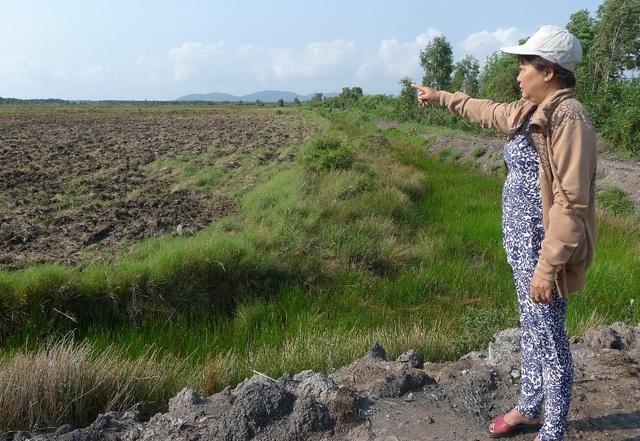 Bà Trần Thị Bình cho biết, toàn bộ 60ha đất mà UBND xã Kiên Bình bảo là đất quỹ của xã đã được anh em bà khai phá từ năm 1989 và canh tác liên tục đến nay không bị ai tranh chấp