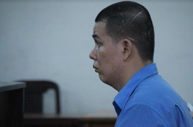 Bị cáo Trung tại phiên tòa