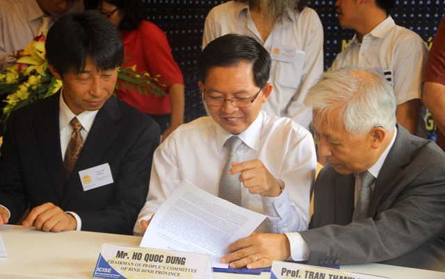 Lễ ký kết Biên bản ghi nhớ hợp tác cuộc gặp gỡ giữa nhóm giáo sư cấp cao Nhật Bản cùng lãnh đạo UBND tỉnh Bình Định và Trung tâm IFIRSE