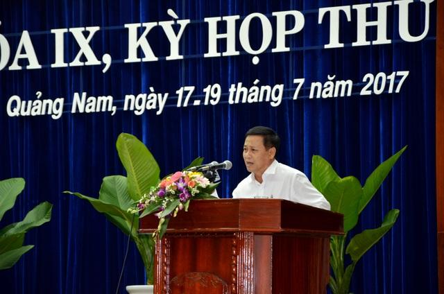 Ông Nguyễn Quang Thử - Giám đốc Sở Công Thương tỉnh Quảng Nam – giải trình về 4 thủy điện vừa và nhỏ