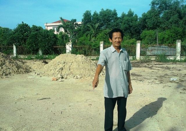 Ông Hải cho rằng 200 m2 đất của gia đình ông mua nhờ bà Loan đứng tên không thuộc diện tích thu hồi làm khu tái định cư nhưng bị chính quyền TP Quy Nhơn cho san ủi và bán nền?
