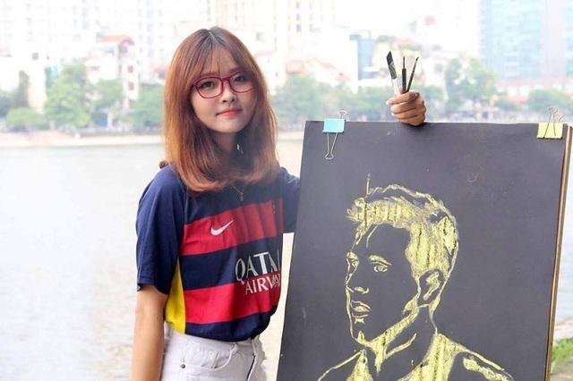 Nữ sinh mê Barcelona có tài vẽ chân dung cầu thủ thần tượng - 2