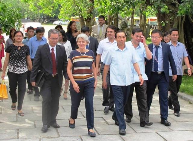 Bà Irina Bokova - Tổng Giám đôc UNESCO thăm và làm việc tại Ninh Bình chiều 24/8.