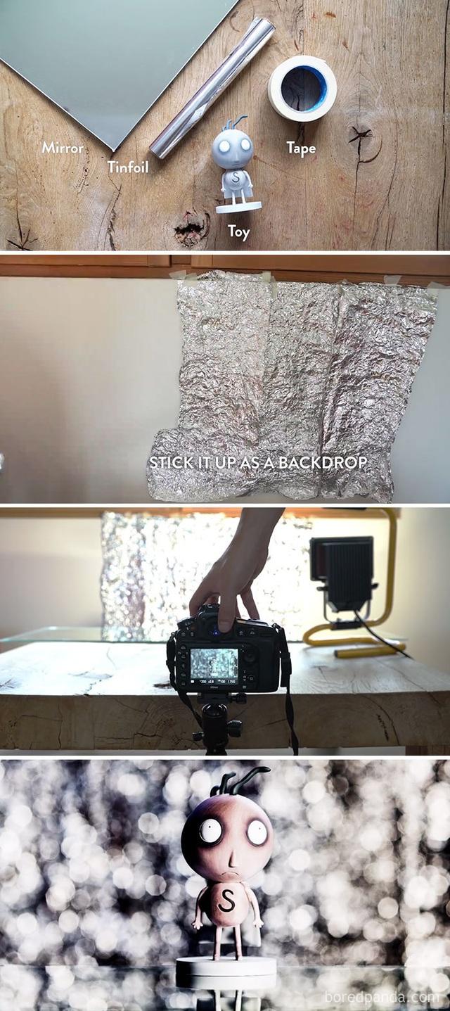 Sử dụng giấy thiếc để tạo hiệu ứng bokeh thay vì mua ống kính đắt tiền