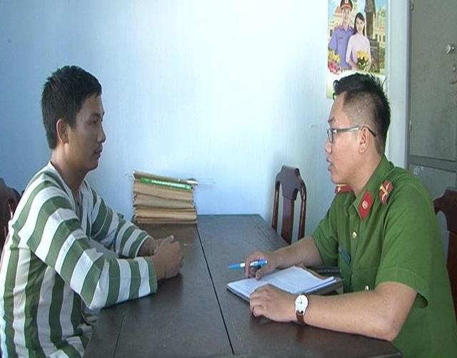 Công an huyện Phú Lộc đang lấy lời khai đối tượng Nhật.
