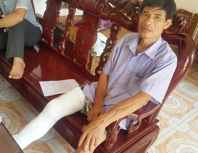 Ông Phạm Văn Tiếu, người có đơn gửi đến báo Dân trí kêu cứu về việc gia đình bị hành hung, đập phá tài sản.