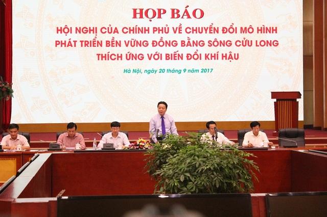 Quang cảnh buổi họp báo của Bộ TN-MT ngày 20/9.