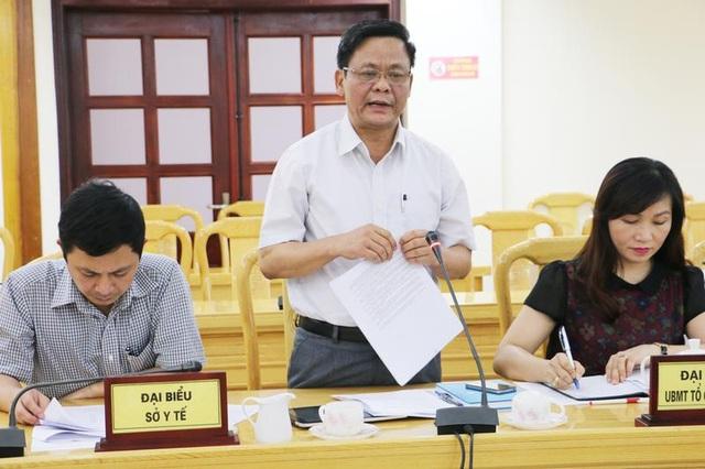 Ông Đường Công Lự phát biểu tại cuộc họp bàn về việc dừng QĐ77