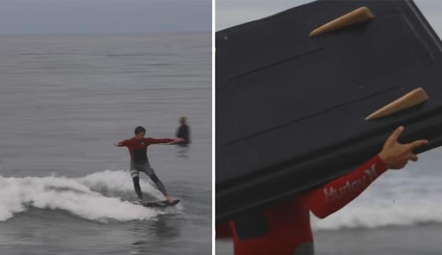 Bobby cùng chiếc ván trượt có một không hai của mình.