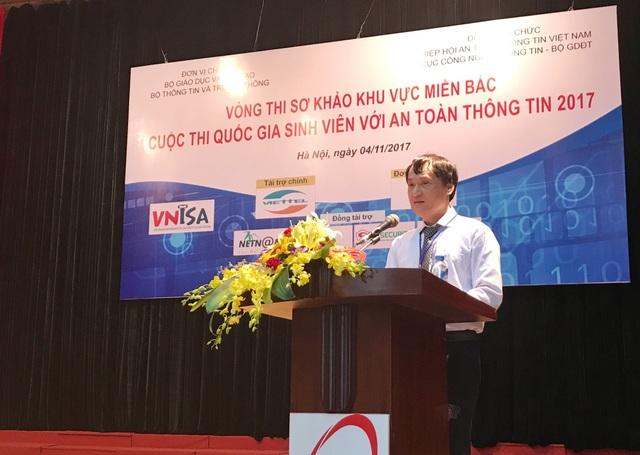 ông Vũ Quốc Thành, Phó Chủ tịch VNISA - trưởng Ban tổ chức cuộc thi.