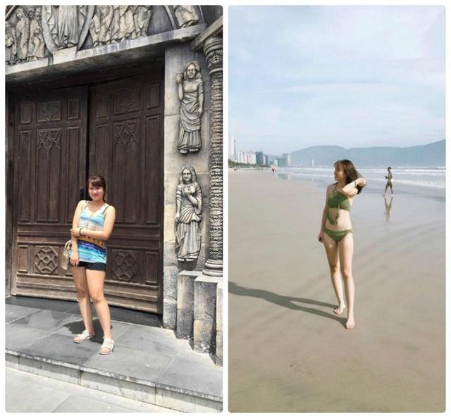 """""""Tháng 5 vừa rồi mình 57kg rồi bắt đầu giảm cân vì mập, mình bị chê béo nhiều quá cũng thấy xấu hổ và một phần cũng để tự tin diện đồ đẹp nên quyết định giảm cân"""", 9x chia sẻ."""