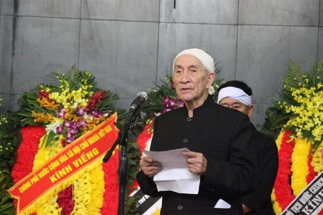 Ông Trịnh Lương - con trai cả của cụ Hoàng Thị Minh Hồ.