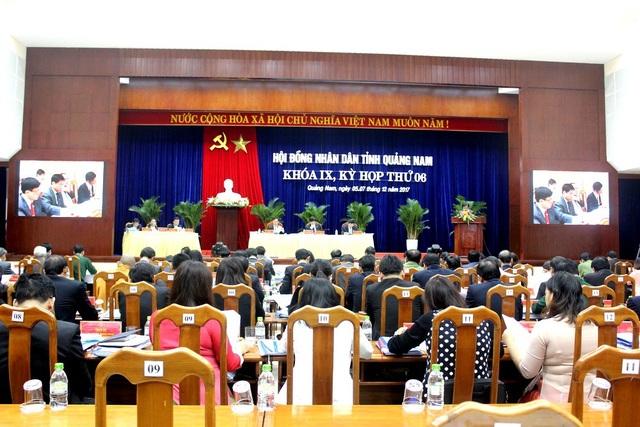 Kỳ họp thứ 6, HĐND tỉnh Quảng Nam khóa IX khai mạc sáng ngày 5/12