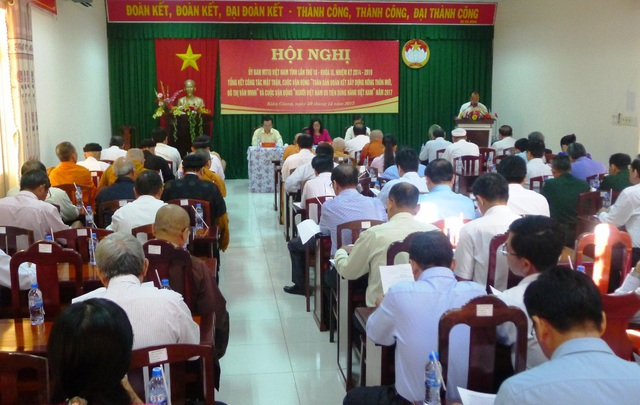 Năm qua, MTTQ Kiên Giang làm tốt công tá an sinh xã hội, đơn vị đã vận động gần 344 tỷ đồng chăm lo cho người nghèo, xây nhà Đại đoàn kết...