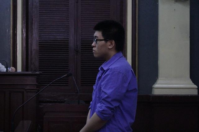 Bị cáo Bình tại phiên tòa.