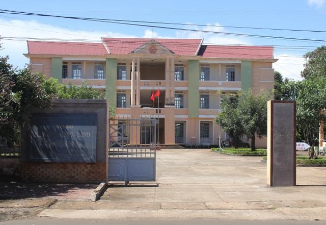 UBND thị trấn Ia Kha, nơi ông Hà Văn Thành công tác