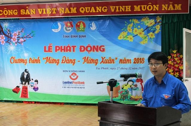 Anh Lương Đình Tiên, Phó Bí thư Tỉnh đoàn Bình Định