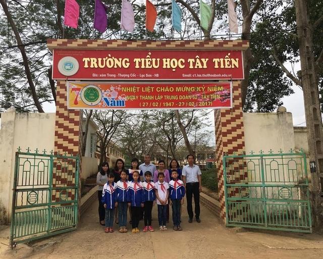 Trường Tiểu học Tây Tiến (xã Thượng Cốc, huyện Lạc Sơn, Hòa Bình). (Ảnh: Nguyễn Thị Bích Ngọc)