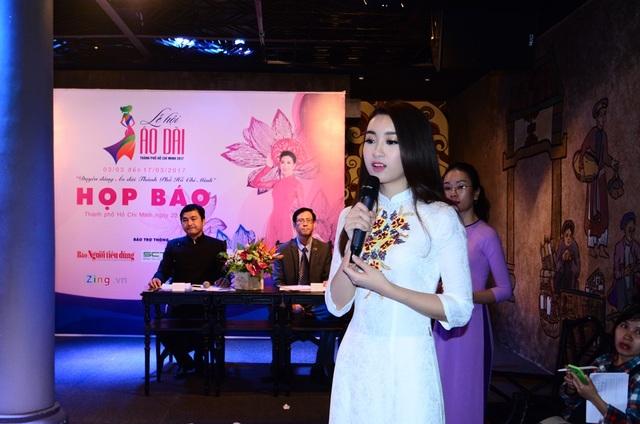 Hoa hậu Đỗ Mỹ Linh làm đại sứ cho lễ hội áo dài 2017.