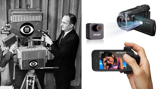 Vào năm 1956, Ray Dolby, Charles Ginsberg và Charles Anderson phát minh máy quay video đầu tiên có thể ghi cả hình ảnh và âm thanh. Chúng được bán với giá 75.000 USD và chỉ dành cho các đài truyền hình lớn cho đến những năm 80. Giờ đây thì bất cứ ai cũng có thể quay video, chụp hình thoải mái với những thiết bị nhỏ gọn, lại rẻ hơn rất nhiều.