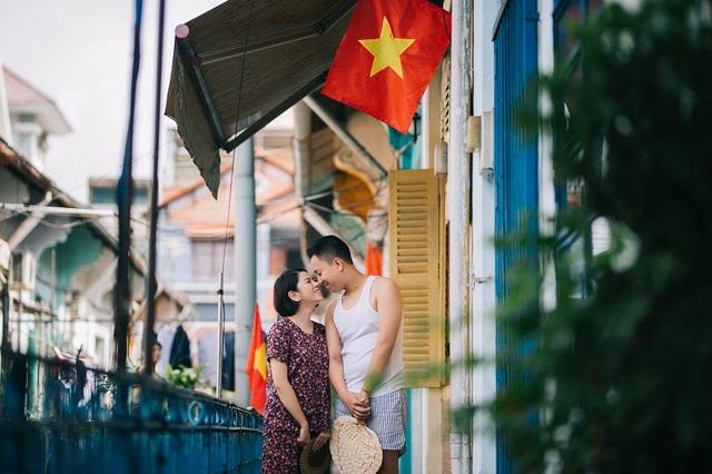 Ảnh cưới giản dị của cặp đôi yêu xa ở... quán phở, khu chung cư - 16