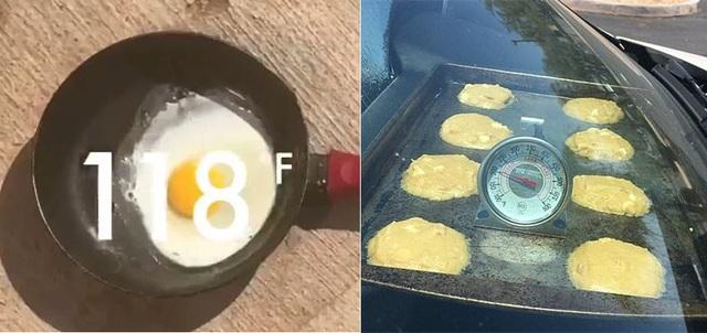 Nhiệt độ đủ cao để có thể tráng trứng và làm bánh (Ảnh: Twitter)