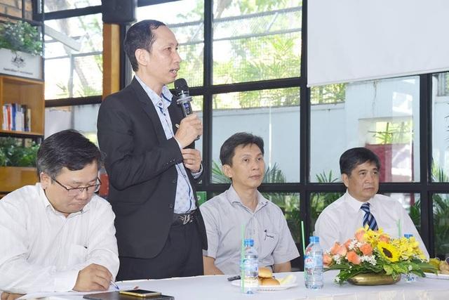 Ông Vũ Anh Tuấn - Tổng Thư ký Hội Tin học TPHCM phát biểu tại lễ ra mắt chương trình.
