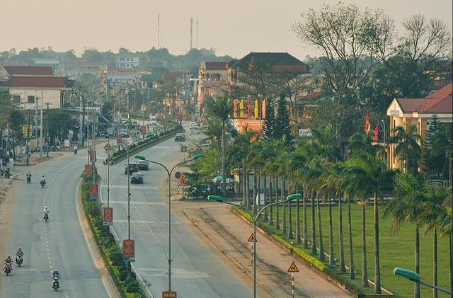 Thị trấn Hồ Xá, huyện Vĩnh Linh hôm nay (Ảnh: Trang TTĐT Vĩnh Linh)