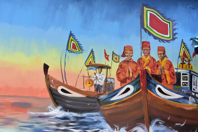 Khám phá làng bích họa của sinh viên ở xã đảo Tam Hải - 11
