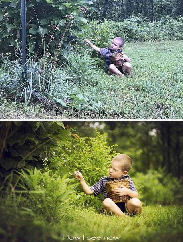 Sự khác biệt giữa ảnh gốc và ảnh đã qua chỉnh sửa.