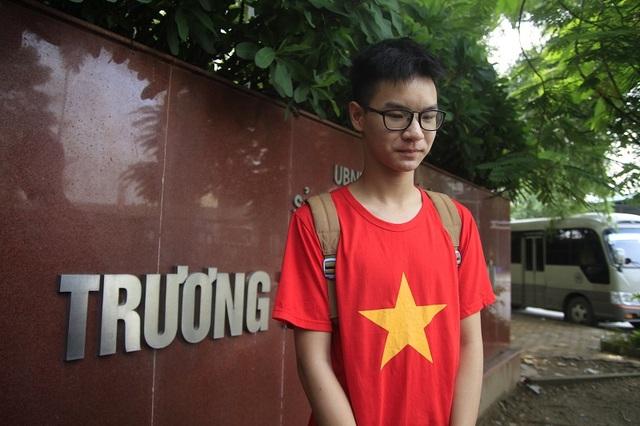 Em Vũ Đức Quang, học sinh lớp 11A11, trường THPT Lương Thế Vinh