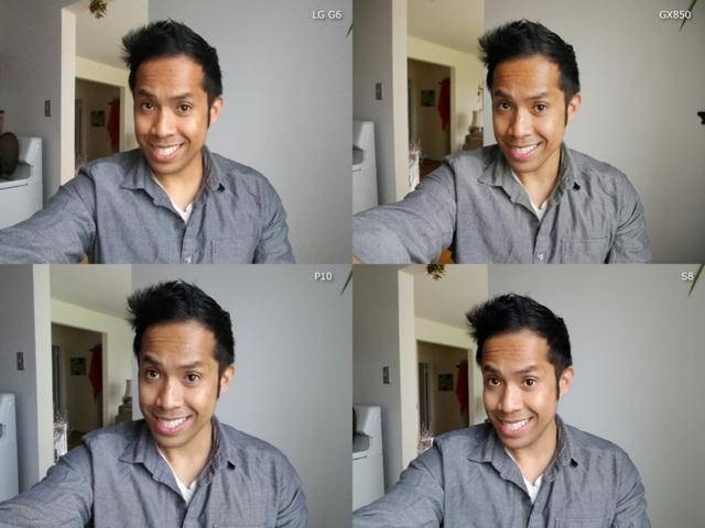 Về khả năng chụp selfie, GX850 chắc chắn là người thắng cuộc bởi nó sở hữu độ phân giải và cảm biến ảnh tốt hơn so với camera selfie trên những chiếc smartphone Android, giúp mang đến chất ảnh thực, tái hiện tốt hơn, và zoom rõ nét hơn.