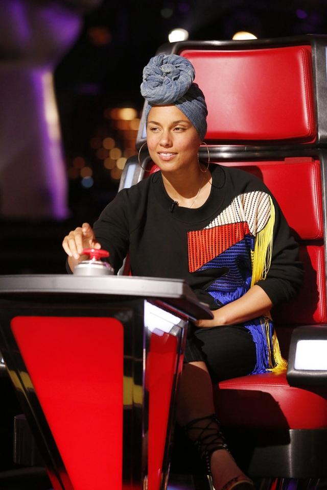 Nữ ca sĩ Alicia Keys tại The Voice Mỹ