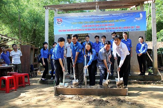 Khởi công xây dựng nhà nhân ái của Hội LHTN Việt Nam tỉnh Trà Vinh