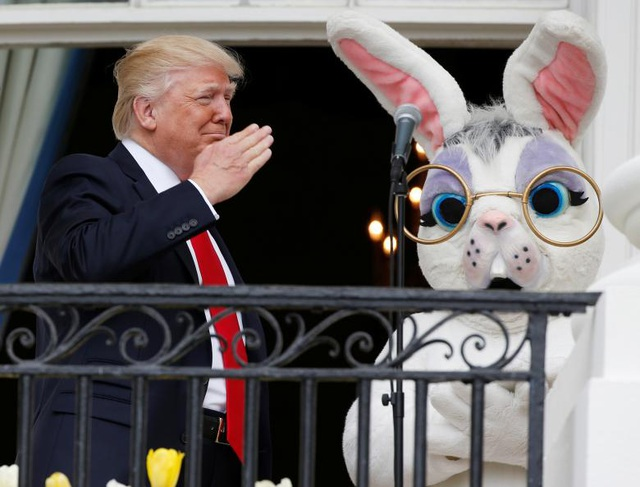 Ông Trump tổ chức Lễ Phục sinh đầu tiên tại Nhà Trắng ngày 17/4/2017. (Ảnh: Reuters)