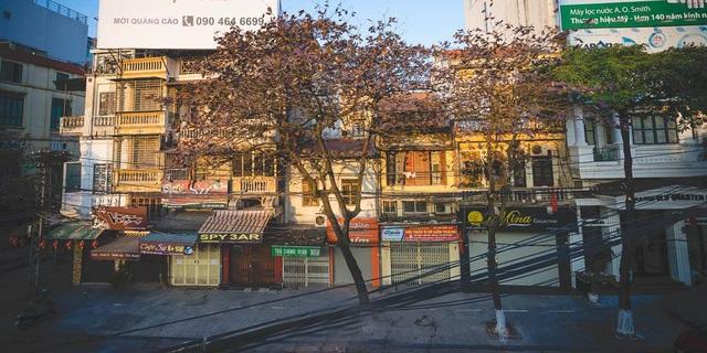 Những con phố cũng trở nên hoài cổ, lãng mạn trong khoảnh khắc giao mùa