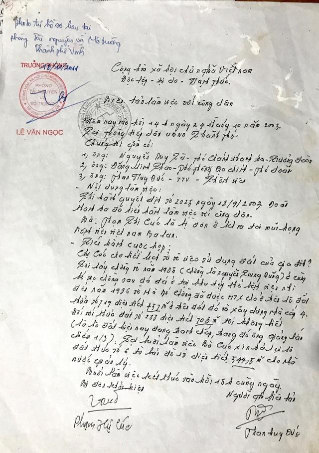 Sau nhiều lần đi đòi đất, với nhiều phiên toà, mảnh đất bất hợp pháp bà Cúc sử dụng đã được trả lại vào tháng 10/2003.