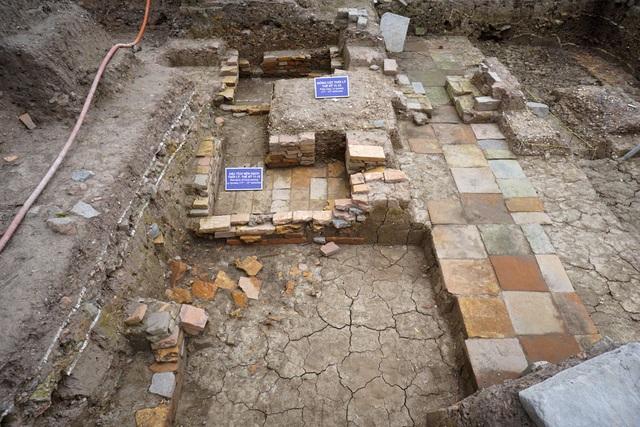 Khu vực phát hiện khảo cổ dấu tích kiến trúc thời Lý, thế kỷ 11 - 12.
