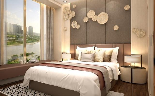 View phòng ngủ tuyệt đẹp với hướng nhìn ra sông