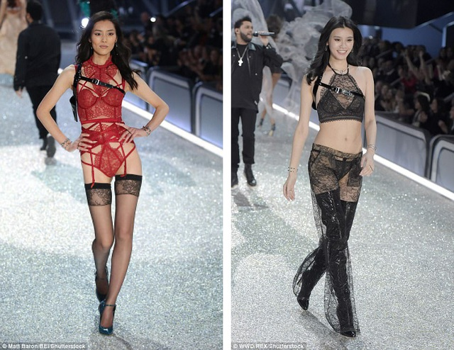 """Hoa khôi Liu Qianqian cho biết cô thần tượng người mẫu Liu Wen (trái) - nhan sắc Trung Quốc từng xuất hiện trong show diễn của """"Victoria's Secret"""", cũng như người mẫu Ming Xi (phải)."""