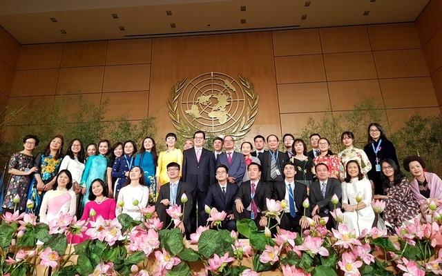 Lần đầu tiên Việt Nam ra mắt tại Liên Hiệp quốc đã để lại những ấn tượng rõ nét và thật sự đặc biệt với quan khách.