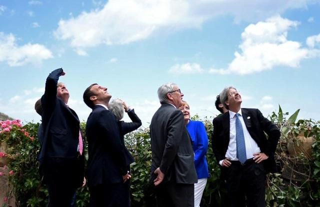 Ông Trump cùng các nguyên thủ quốc gia tại Hội nghị Thượng đỉnh G7 tổ chức tại Sicily, Ý ngày 26/5/2017. (Ảnh: Reuters)