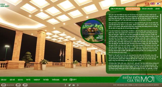 """Trang web của sân golf Tân Sơn Nhất tự giới thiệu: """"Sân golf tọa lạc ngay liền kề với sân bay quốc tế Tân Sơn Nhất và là sân golf mở duy nhất nằm trong khu vực nội thành TPHCM"""". (Ảnh: Nguyễn Quang)"""