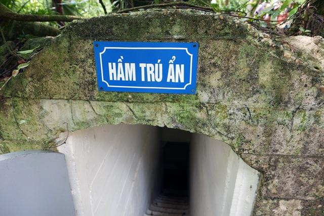 Hầm trú ẩn được bố trí cách Nhà sàn khoảng 10m, nguỵ trang khuất dưới những tán cây cổ thụ.