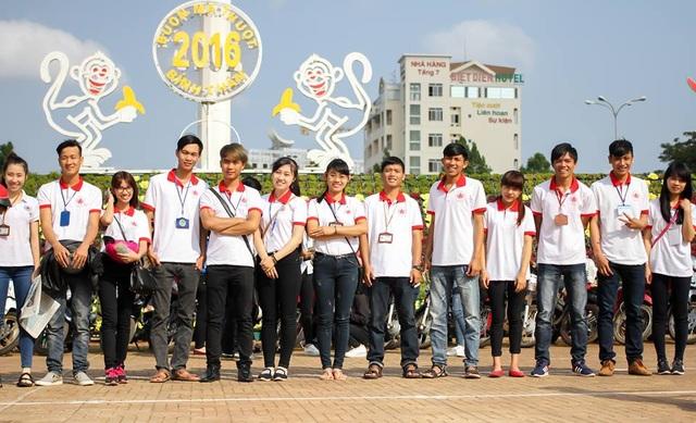 Các thành viên CLB Hiến máu nhân đạo trường ĐH Tây Nguyên năng động, nhiệt huyết