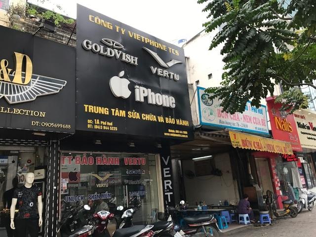Không chỉ những đại lý cung cấp iPhone, mà cả các địa chỉ sửa chữa, cung cấp phụ kiện không được ủy quyền cũng phải dỡ bỏ biển hiệu.