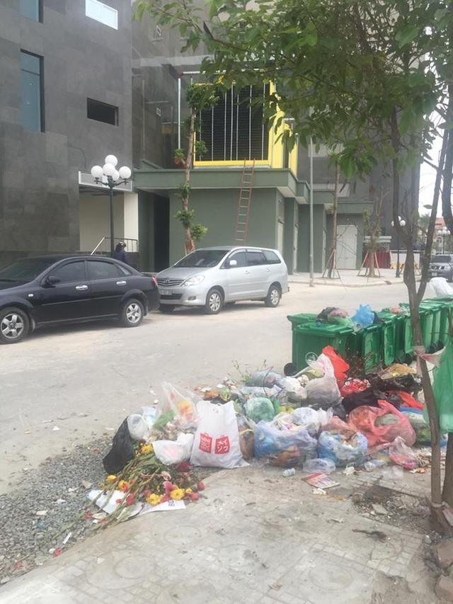 Nhiều người vẫn vứt rác tràn lan dù ngay bên cạnh là xô đựng rác được bố trí khá dày đặc.
